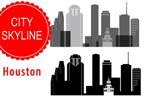 Houston city vector