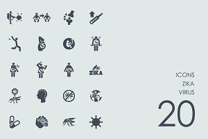 Zika virus icons