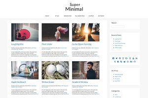 Super Minimal WordPress Theme