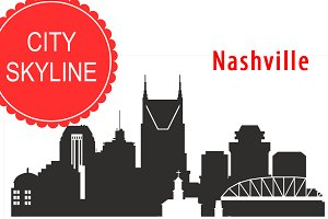 Nashville vector skyline