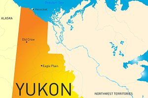 Yukon vector province color map