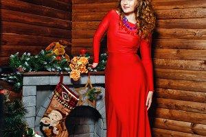 Beautiful girl and Christmas