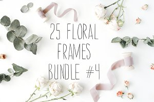 SALE. 25 floral frames bundle #4
