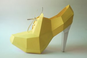 DIY Ankle Boot - 3d papercraft