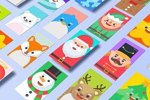 Xmasland Christmas characters design