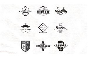 Barber Shop Logo Set