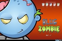 Blue Zombie Character - Set 1