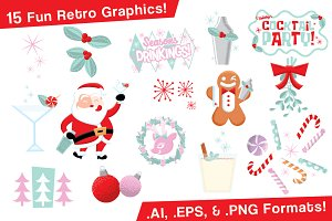 Holiday Cocktail Party Graphics Set