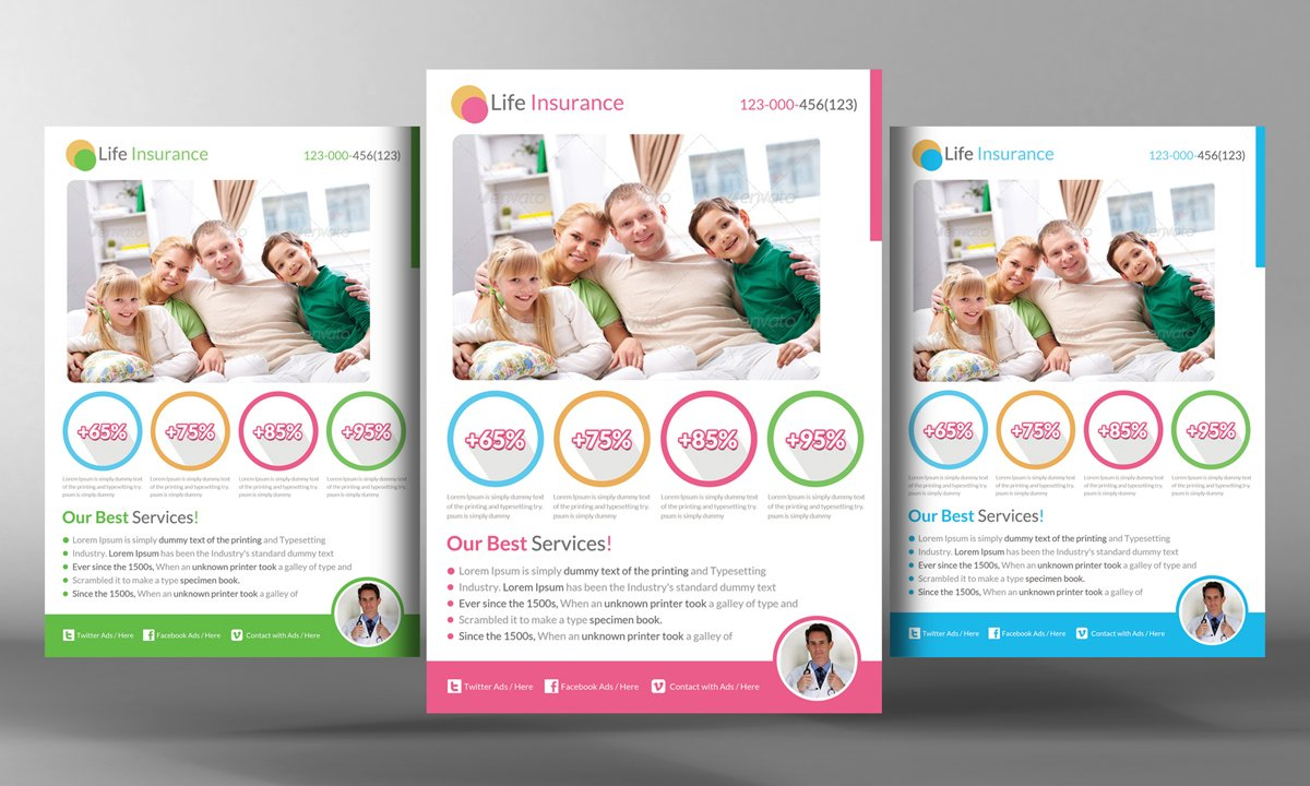 Life Insurance Flyer Template ~ Flyer Templates on ...
