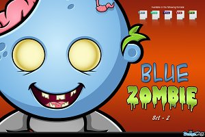 Blue Zombie Character - Set 2