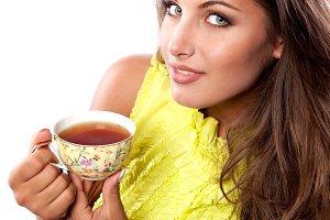 fresh cup of black tea
