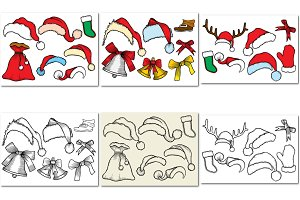 Patch badges of different Christmas