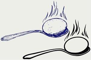 Boiled egg breakfast SVG