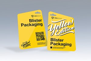 Blister Label Packaging Mockup