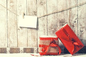 Christmas concept with gifts