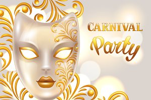 Carnival invitation cards.