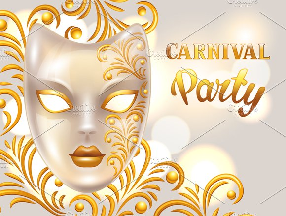 Carnival invitation cards. in Flyer Templates