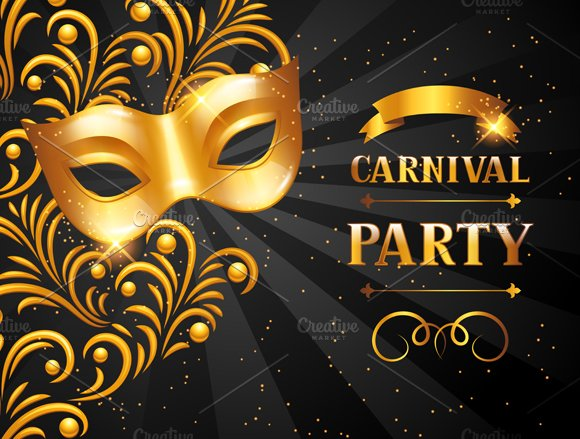Carnival invitation cards. in Flyer Templates - product preview 1