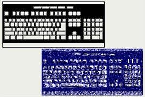 Computer keyboard SVG