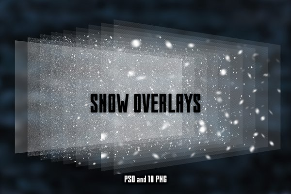 Real snow overlays for your photos