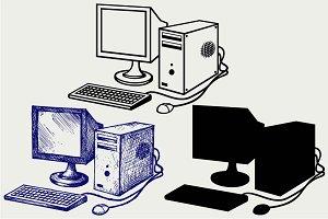 Old computer SVG