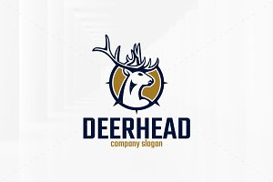 Deer Head Logo Template