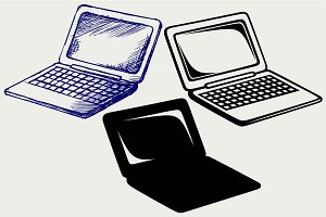 Laptop and netbook SVG