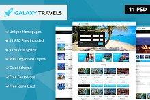 Galaxy- Travels PSD Website Template