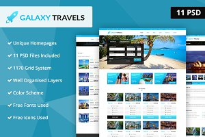 Galaxy- Travels PSD Website Template