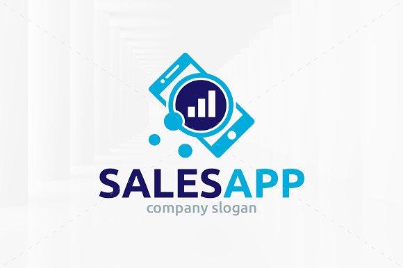 sales app logo template logo templates creative market