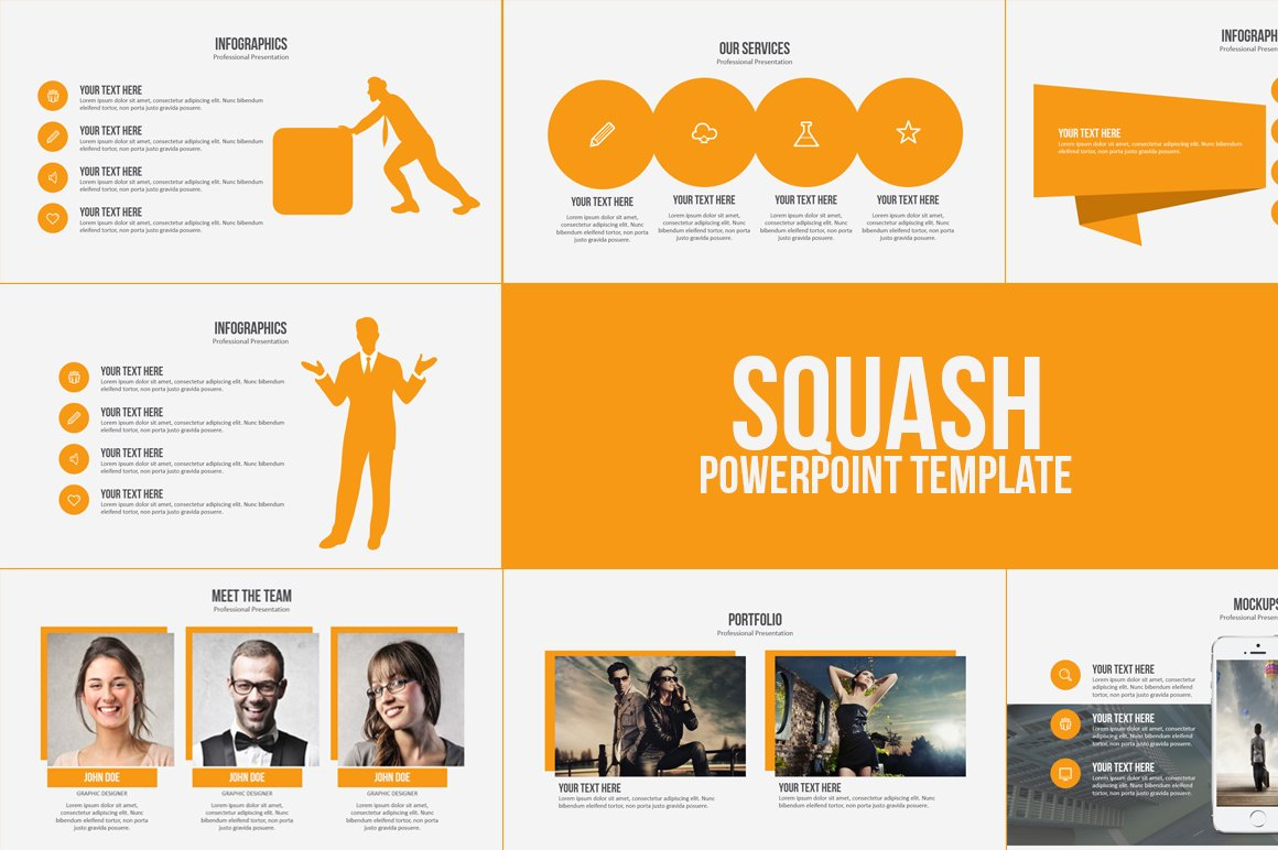 Squash powerpoint template presentation templates for Free flash powerpoint presentation templates