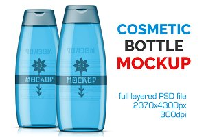Clear Cosmetic Bottle Mockup Vol. 11