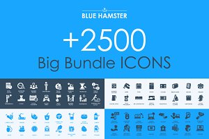 BLUE HAMSTER Icons Library