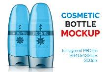Clear Cosmetic Bottle Mockup Vol. 12