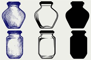 Glass jars SVG
