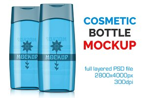 Clear Cosmetic Bottle Mockup Vol. 13