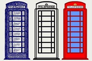 British phone booth SVG