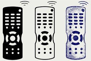 Remote control TV SVG
