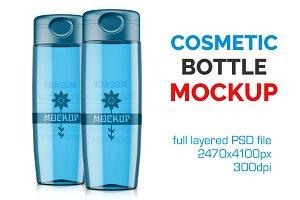 Clear Cosmetic Bottle Mockup Vol. 14