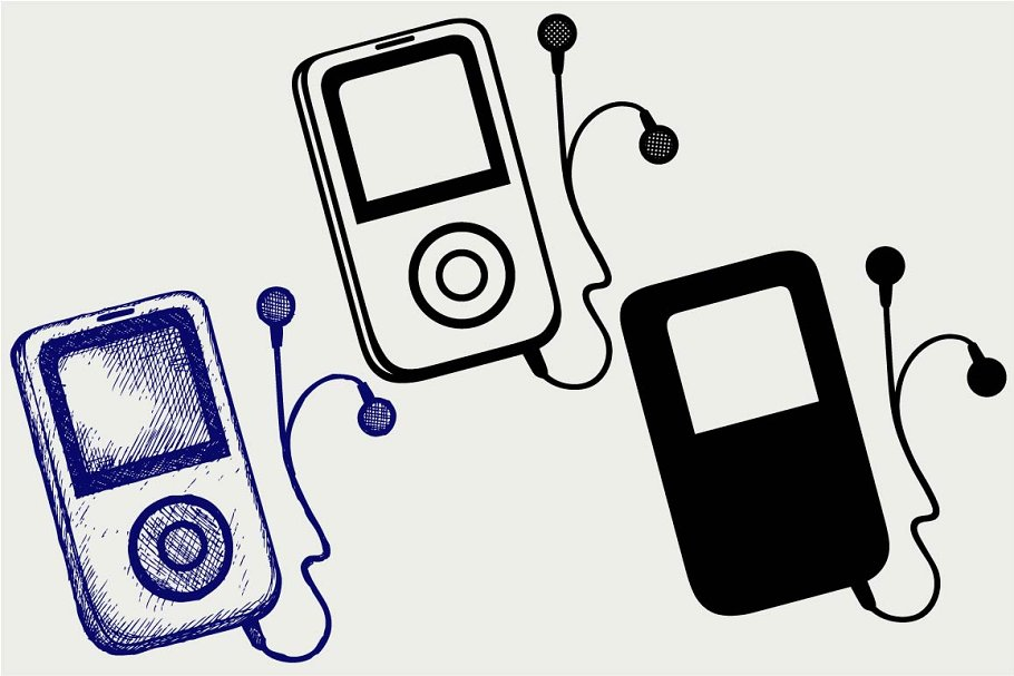 MP3 player SVG