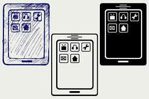 Mobile phone SVG