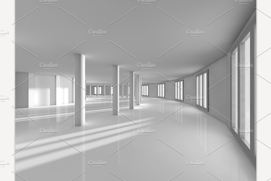 Swell Empty Showroom 3D Rendering Download Free Architecture Designs Scobabritishbridgeorg