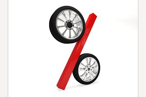Car wheel sale 3d rendering