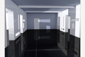 Empty room 3D render
