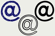 Contact icons email