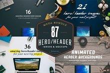 MEGA BUNDLE - 87 Hero/Header images