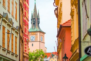Beautiful church on the square in Prague