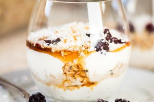 Granola Parfait with Greek Yogurt
