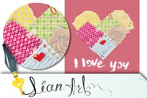 Scrapbooking Heart, Valentine's day