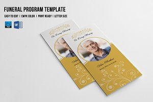 Trifold Funeral Template-V631